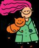 Woman holding cat avatar