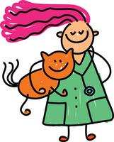 Woman holding cat avatar 200 jpg
