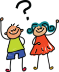 Boy and girl questioning 200 png